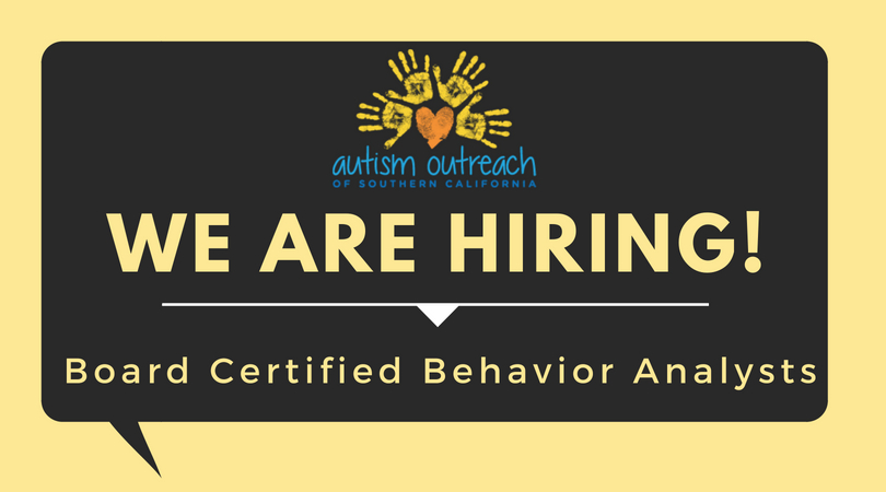 Bcba Employment Opportunity Autism Outreach Southern California